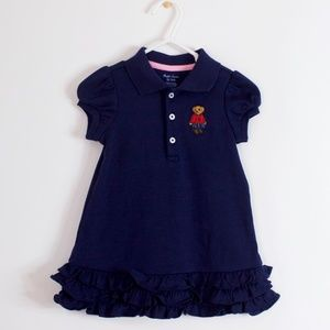 Ralph Lauren Blue Ruffled Dress w/ bloomers 9M